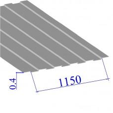 Профнастил окрашенный RAL 9002 С8 0.4х1150