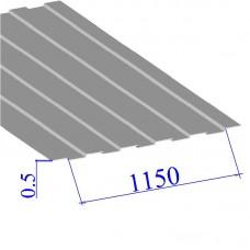 Профнастил окрашенный RAL 9002 С8 0.5х1150