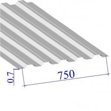 Профнастил окрашенный RAL 9003 Н75 0.7х750