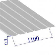 Профнастил окрашенный RAL 9003 С10 0.5х1100