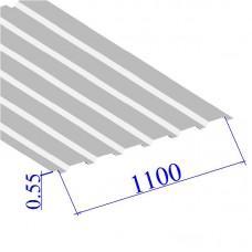 Профнастил окрашенный RAL 9003 С20 0.55х1100