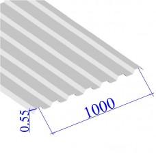 Профнастил окрашенный RAL 9003 С21 0.55х1000