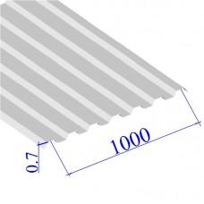 Профнастил окрашенный RAL 9003 С21 0.7х1000
