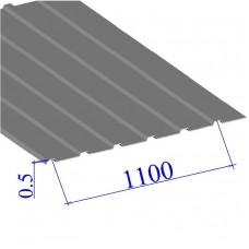Профнастил окрашенный RAL 9006 С10 0.5х1100