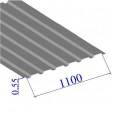 Профнастил окрашенный RAL 9006 С20 0.55х1100