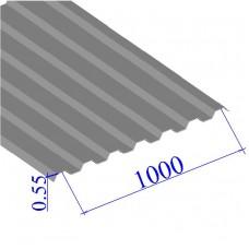 Профнастил окрашенный RAL 9006 С21 0.55х1000