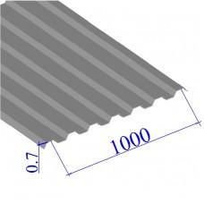 Профнастил окрашенный RAL 9006 С21 0.7х1000