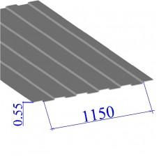 Профнастил окрашенный RAL 9006 С8 0.55х1150