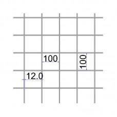 Сетка сварная 100х100х12 А500C размер карты 2х6