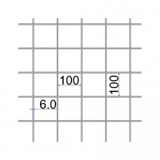 Сетка сварная 100х100х6 А500С размер карты 2х6