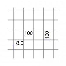 Сетка сварная 100х100х8 А500С размер карты 2х6