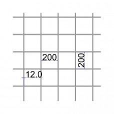 Сетка сварная 200х200х12 А500С размер карты 2х6
