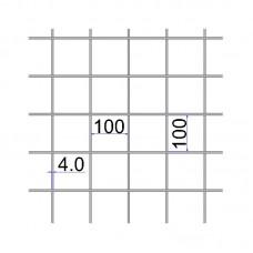 Сетка сварная 100х100х4 размер карты 2х3