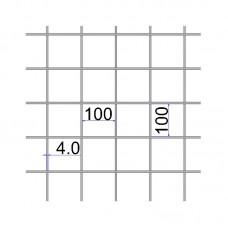 Сетка сварная 100х100х4 размер карты 2х6