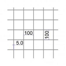 Сетка сварная 100х100х5 размер карты 2х6