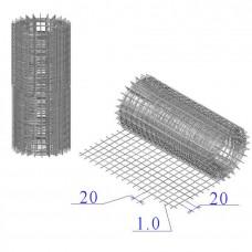 Сетка оцинкованная в рулонах 20х20х1