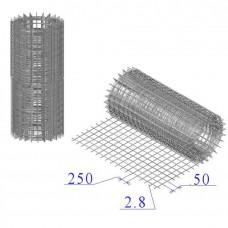 Сетка оцинкованная в рулонах 250х50х2,8