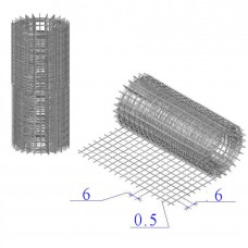 Сетка оцинкованная в рулонах 6х6х0,5