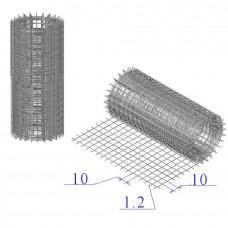 Сетка оцинкованная в рулонах 10х10х1,2