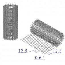Сетка оцинкованная в рулонах 12,5х12,5х0,6