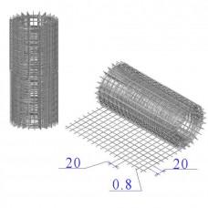 Сетка оцинкованная в рулонах 20х20х0,8