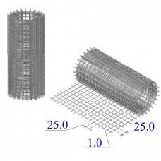 Сетка оцинкованная в рулонах 25х25х1