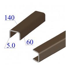 Швеллер гнутый 140х60х5