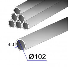 Труба бесшовная 102х8 сталь 20