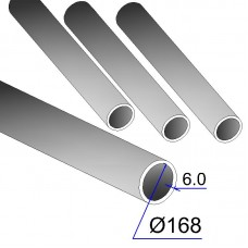 Труба бесшовная 168х6 сталь 20