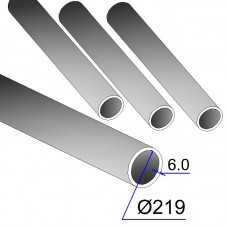 Труба бесшовная 219х6 сталь 20