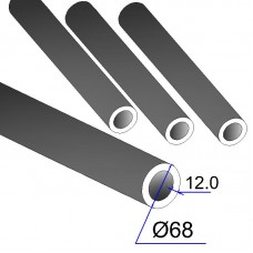 Труба бесшовная 68х12 сталь 45